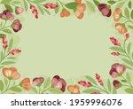 summer flowers in flat style  ... | Shutterstock .eps vector #1959996076