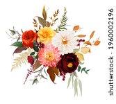 moody boho chic wedding vector... | Shutterstock .eps vector #1960002196