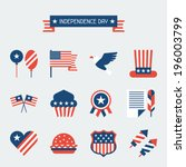 united states of america... | Shutterstock .eps vector #196003799
