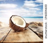 Table Of Wood And Coconut
