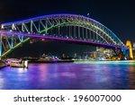harbor bridge sydney harbor | Shutterstock . vector #196007000
