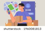 online delivery service concept....   Shutterstock .eps vector #1960081813