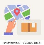 online delivery service concept....   Shutterstock .eps vector #1960081816