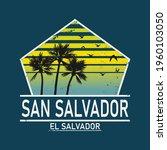 welcome to san salvador el... | Shutterstock .eps vector #1960103050