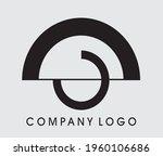 abstract logo design  circle ... | Shutterstock .eps vector #1960106686