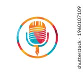 pen microphone conference... | Shutterstock .eps vector #1960107109