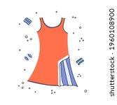 flat doodle vector illustration ... | Shutterstock .eps vector #1960108900