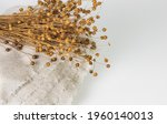 Bouquet Of Dry Flax Plants With ...