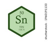 sn tin post transition metal... | Shutterstock .eps vector #1960191133