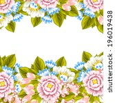 abstract flower background with ... | Shutterstock .eps vector #196019438