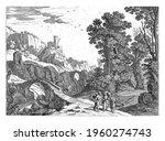 in an italian landscape  with... | Shutterstock . vector #1960274743
