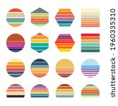 retro sunset collection for... | Shutterstock .eps vector #1960335310