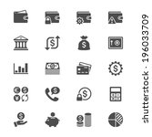 financial management flat icons | Shutterstock .eps vector #196033709