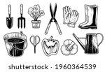 sketch vector set of gardening... | Shutterstock .eps vector #1960364539
