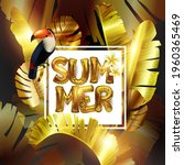 sale. summer sale of tropical... | Shutterstock .eps vector #1960365469