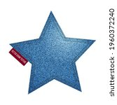 realistic denim star shape with ... | Shutterstock .eps vector #1960372240