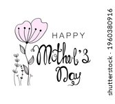 happy mother's day handwritten... | Shutterstock .eps vector #1960380916