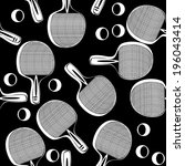 ping pong tennis racket...   Shutterstock . vector #196043414