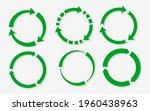 flat green paper round sticker...   Shutterstock .eps vector #1960438963