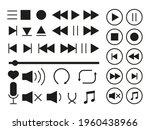 media player icons set....   Shutterstock .eps vector #1960438966