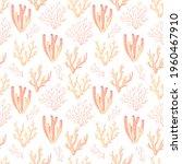 coral reef pattern. ocean world ... | Shutterstock .eps vector #1960467910