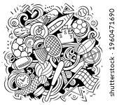 sport cartoon doodle... | Shutterstock .eps vector #1960471690