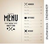 restaurant menu design in...   Shutterstock .eps vector #196048409