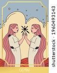 gemini zodiac sign. trendy...   Shutterstock .eps vector #1960493143