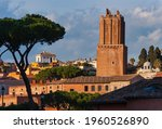 medieval building of the Militia Tower. Rome Italy