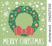 merry christmas vector design ...   Shutterstock .eps vector #1960527520