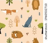 vector forest background with...   Shutterstock .eps vector #1960532710