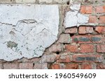 Weathered Red Brick Wall For...