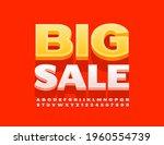 vector promo banner big sale.... | Shutterstock .eps vector #1960554739