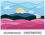 landscape scene with mountain ...   Shutterstock .eps vector #1960580350