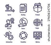 agile scrum process ... | Shutterstock .eps vector #1960614706