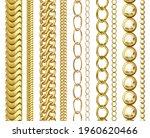golden chain collection  vector ... | Shutterstock .eps vector #1960620466