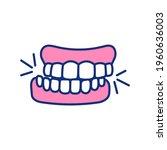 Teeth Grinding Rgb Color Icon....