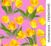 floral seamless tulip with... | Shutterstock .eps vector #1960643440