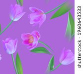 floral seamless tulip with... | Shutterstock .eps vector #1960643533