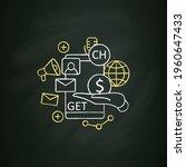chat invite buy chalk icon.... | Shutterstock .eps vector #1960647433