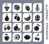 berries and fruit. vector... | Shutterstock .eps vector #196065779