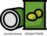 olive can icon. editable bold...