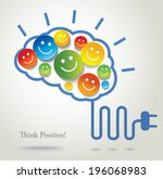 positive thinking. success.... | Shutterstock .eps vector #196068983