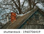 The Roof Of An Old Wooden House ...