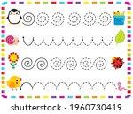 workbook for kids handwriting...   Shutterstock .eps vector #1960730419