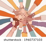 group of arms and hands on top... | Shutterstock .eps vector #1960737103