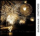celebratory firework in a night ...   Shutterstock . vector #196074500