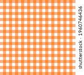 orange seamless gingham pattern ... | Shutterstock .eps vector #1960746436