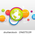 infographic abstract digital... | Shutterstock .eps vector #196075139