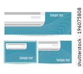 set of business design banner... | Shutterstock .eps vector #196075808